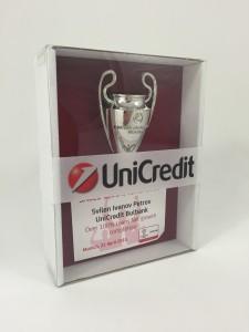 Pokalverpackung mit personalisierter Einlegekarte